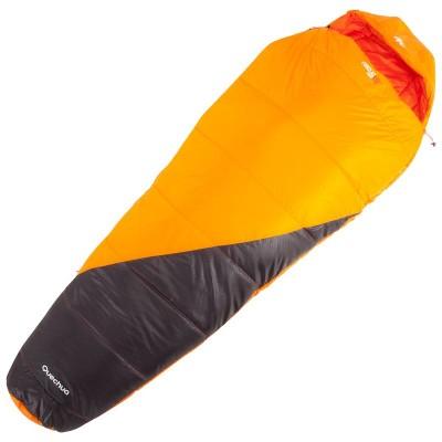 sac-de-dormit-forclaz-10-light-fermoar-dreapta-portocaliu-pentru-drumetii