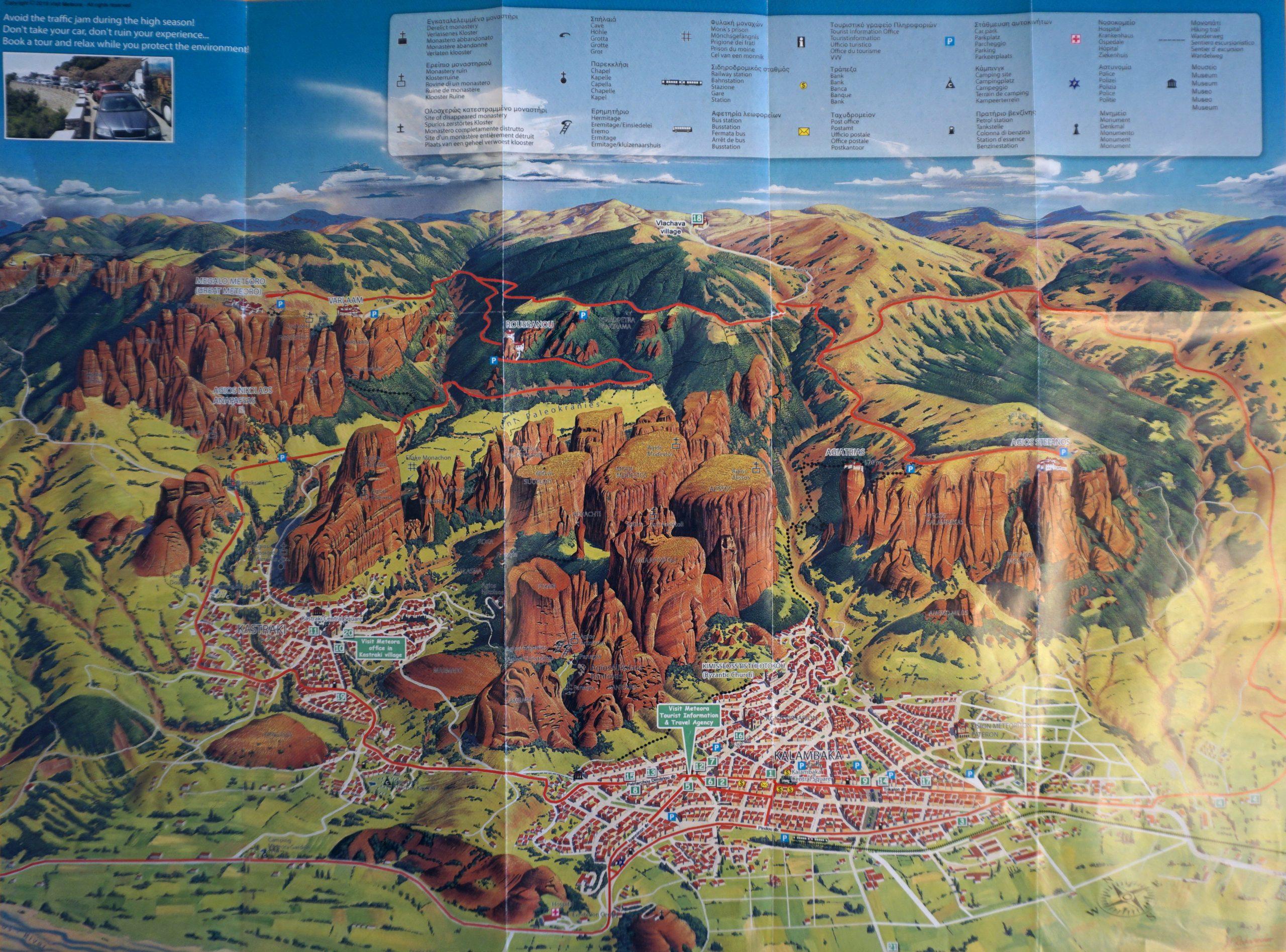 Harta Meteora Grecia Alexandra Bloguldecalatorii Ro