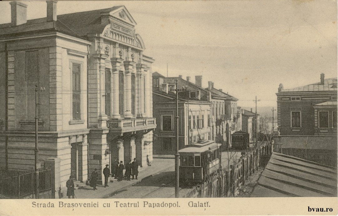 Strada Braşoveniei cu Teatrul Papadopol